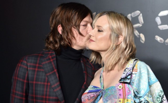 Mandatory Credit: Photo by Stephen Lovekin/WWD/REX (10010937az) Norman Reedus and Diane Kruger Versace show, Arrivals, Pre-Fall 2019, New York, USA - 02 Dec 2018