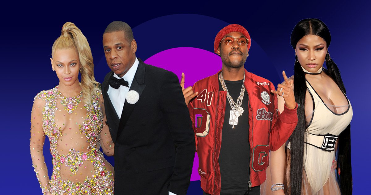 Jay Z made his double date with Beyonce, Nicki Minaj and Meek Mill awkward as hell