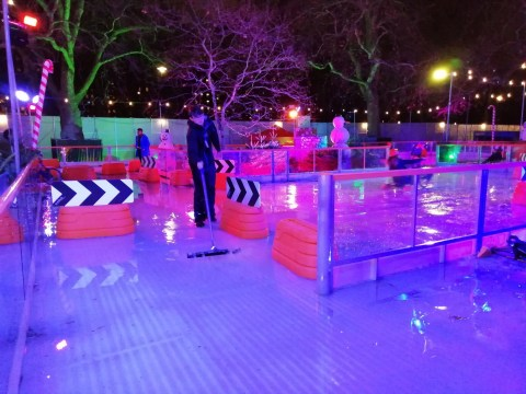 Winter Wonderland skaters left soaking after ice rink melted into puddle
