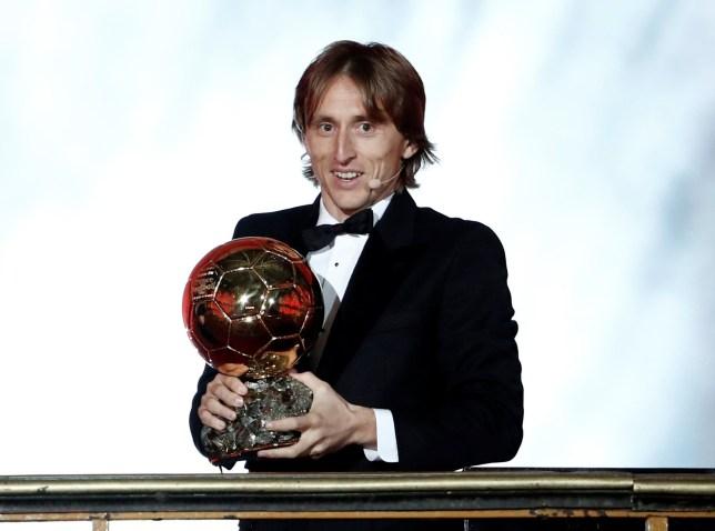 Soccer Football - 63rd Ballon d'Or - The Grand Palais, Paris, France - December 3, 2018 Real Madrid's Luka Modric with the Ballon d'Or award REUTERS/Benoit Tessier