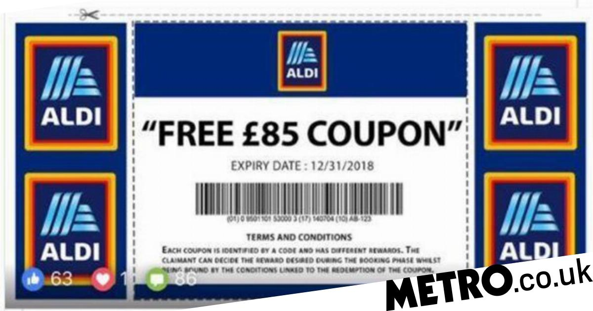 Aldi scam offers fake £85 vouchers and steals personal
