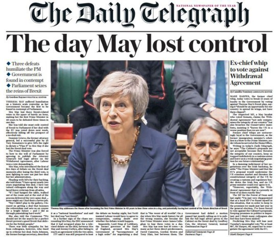 Reaction to May's defeat