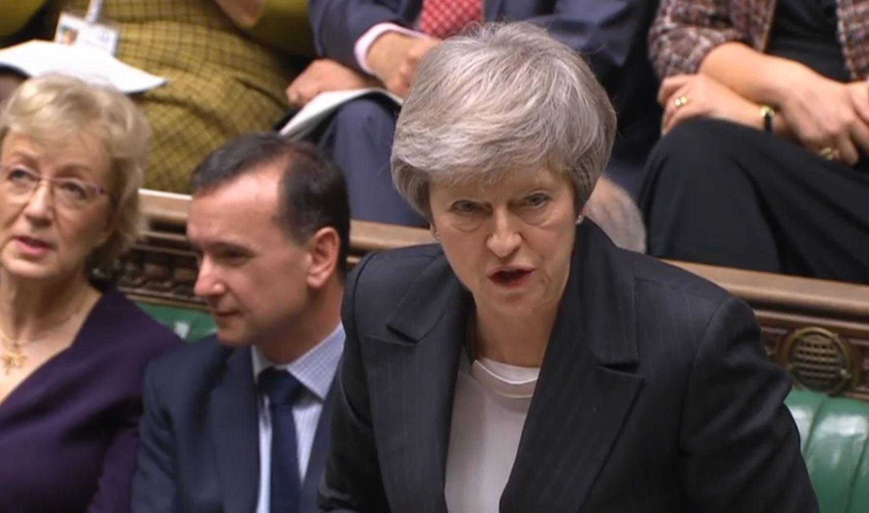 Prime Minister Theresa May speaks during Prime Minister's Questions in the House of Commons, London. PRESS ASSOCIATION Photo. Picture date: Wednesday December 5, 2018. Photo credit should read: PA Wire