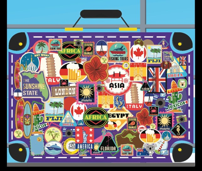 Can you spot the North Pole travel sticker in the array of luggage labels? Brits are being faced with the ultimate passenger puzzle, and this is your mission, should you choose to accept it.