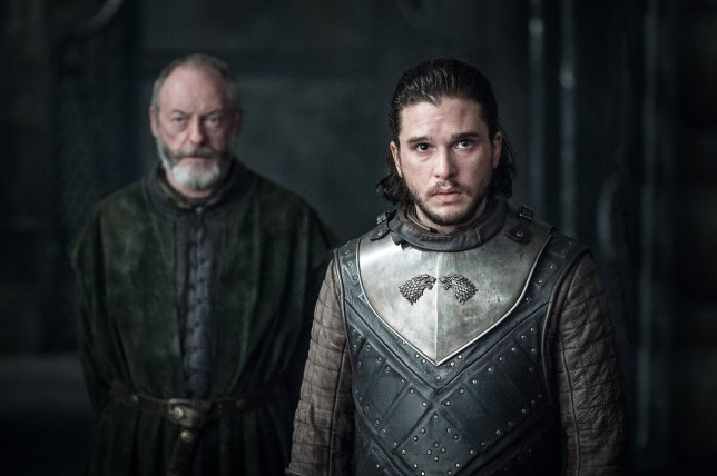 Liam Cunningham as Davos and Kit Harington as Jon Snow in Game Of Thrones