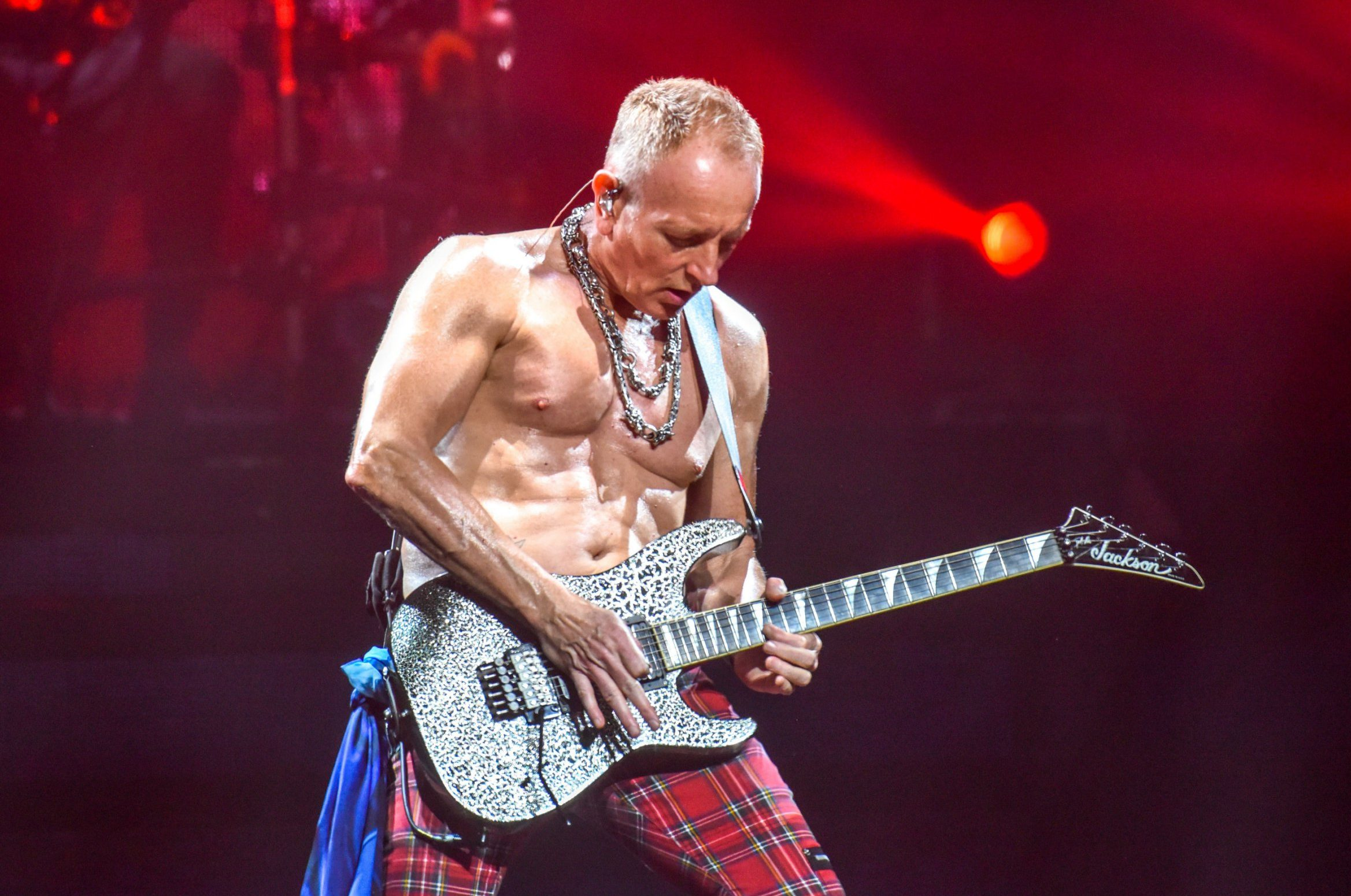 Mandatory Credit: Photo by Graham Harries/REX (10014547a) Def Leppard - Phil Collen Def Leppard in concert at Motorpoint Arena, Cardiff, Wales - 04 Dec 2018