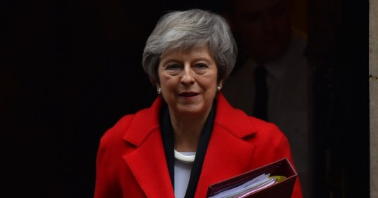 SIPA USA via PA Images British Prime Minister Theresa May leaves 10 Downing Street as she makes her way to the Parliament where she attends Prime Minister Questions session (PMQs), London on December 5, 2018. (Photo by Alberto Pezzali/NurPhoto/Sipa USA)