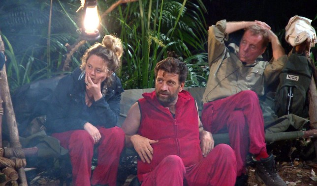 STRICT EMBARGO - NOT TO BE USED BEFORE 22:30 GMT, 05 DEC 2018 - EDITORIAL USE ONLY Mandatory Credit: Photo by ITV/REX (10014166du) John Reads Jungle Arms Laminate - Emily Atack, Nick Knowles and Harry Redknapp 'I'm a Celebrity... Get Me Out of Here!' TV Show, Series 18, Australia - 05 Dec 2018