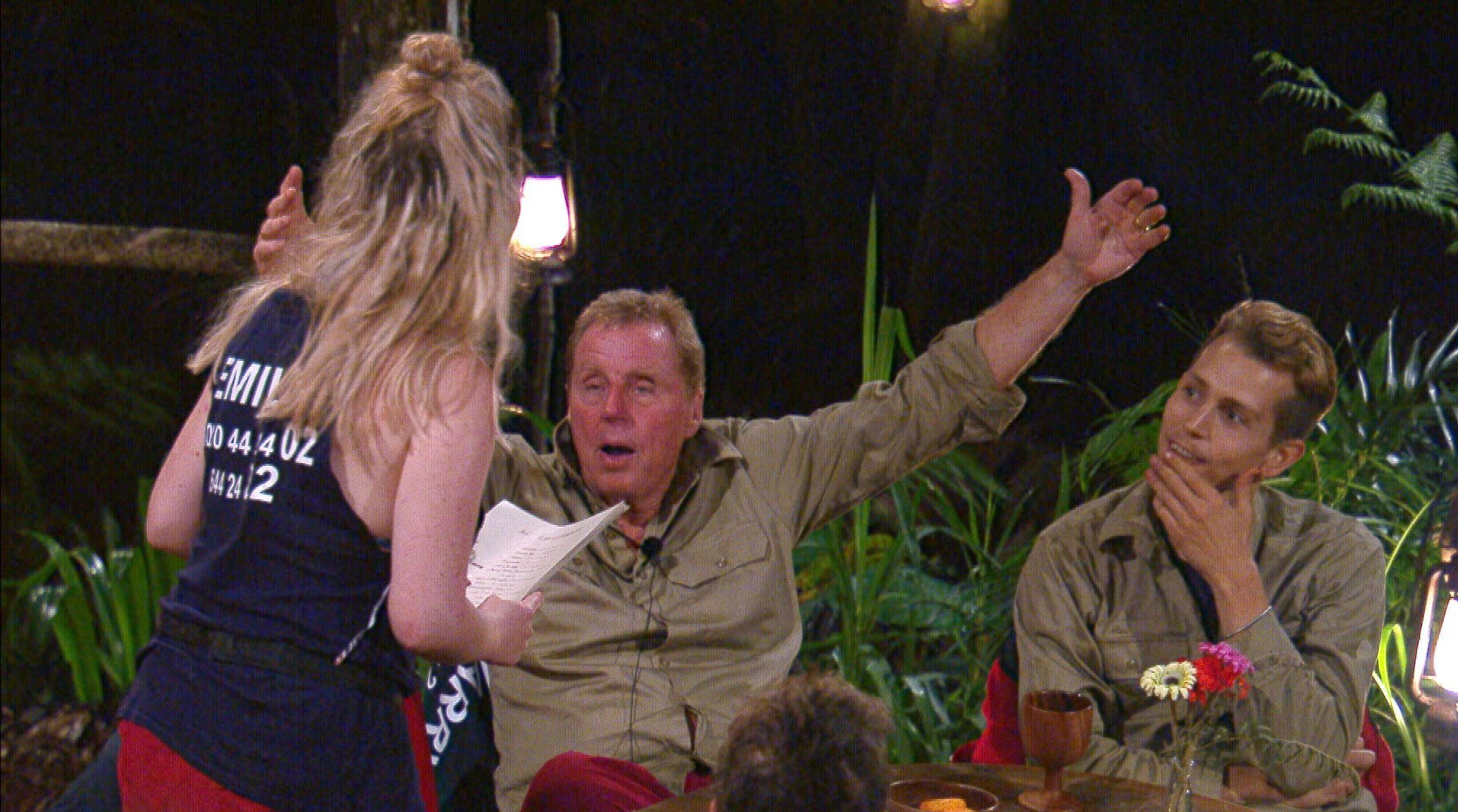 I'm A Celeb tension between Emily Atack and Harry Redknapp as she accuses him of 'cheating' on trial