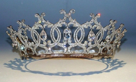 Undated handout photo issued by Nottinghamshire Police of The Portland Tiara which was stolen by three raiders who used specialist diamond cutter tools from the Welbeck Estate on November 20. PRESS ASSOCIATION Photo. Issue date: Thursday December 6, 2018. The brazen burglars broke into the Portland Collection Gallery and stole a diamond brooch from an armoured glass display as well. See PA story POLICE Tiara. Photo credit should read: Nottinghamshire Police/PA Wire NOTE TO EDITORS: This handout photo may only be used in for editorial reporting purposes for the contemporaneous illustration of events, things or the people in the image or facts mentioned in the caption. Reuse of the picture may require further permission from the copyright holder.
