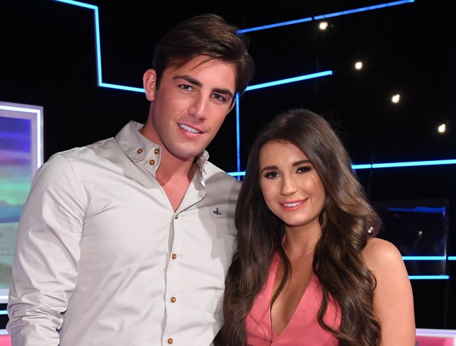 Mandatory Credit: Photo by Jonathan Hordle/ITV/REX/Shutterstock (9779210de) Dani Dyer and Jack Fincham 'Love Island: The Reunion' TV Show, Series 4, London, UK - 05 Aug 2018