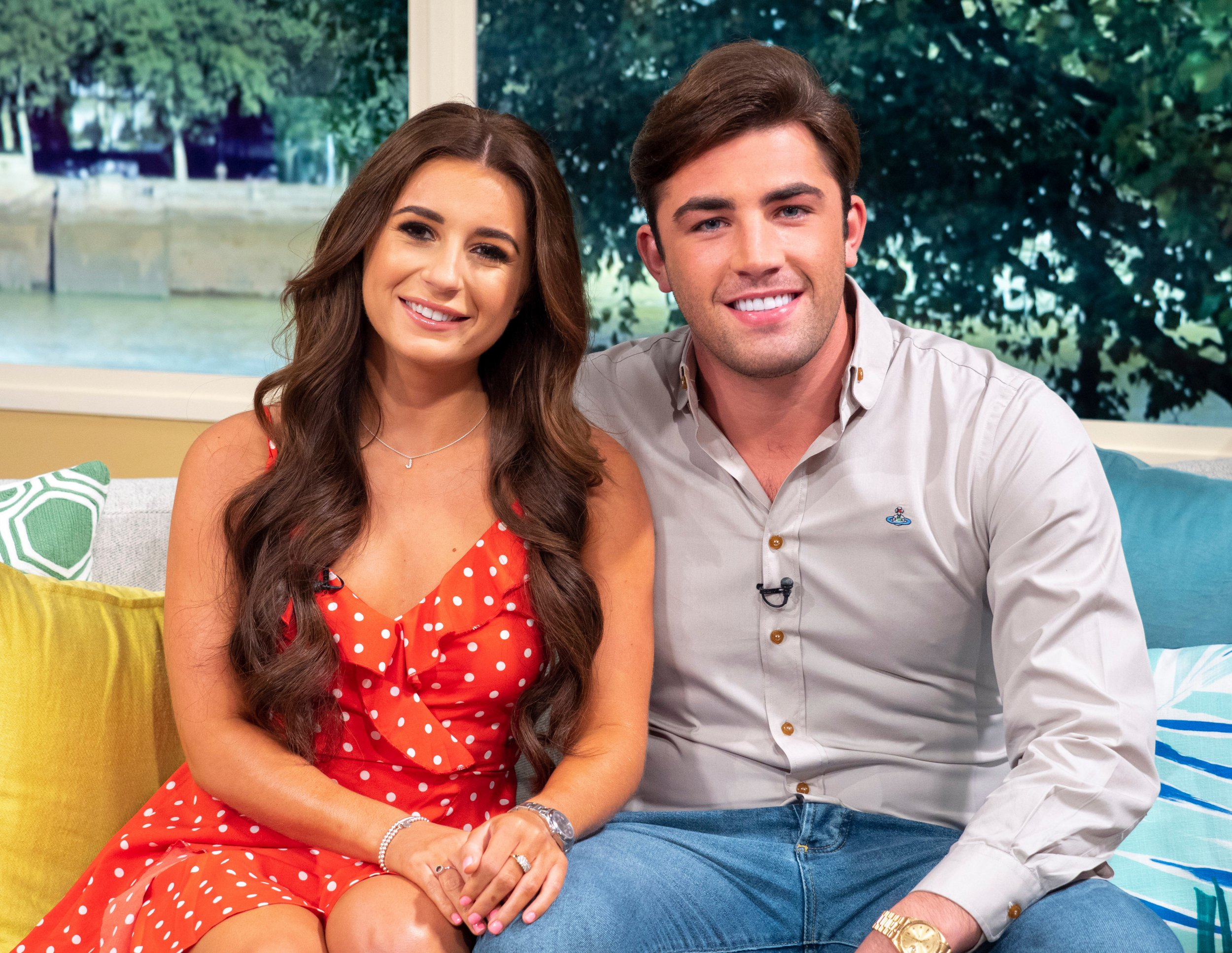 Editorial use only Mandatory Credit: Photo by Ken McKay/ITV/REX/Shutterstock (9848271x) Dani Dyer and Jack Fincham 'This Morning' TV show, London, UK - 03 Sep 2018 From day dot the nation became obsessed with Love Island winners Dani and Jack but after spending eight weeks following the ins and outs of their relationship all we want to know is WHAT ARE THEY DOING NOW?! At last, they join us for their first exclusive joint TV interview together and will be revealing how living together is going and will be addressing the rumours that they are apparently getting married next year.