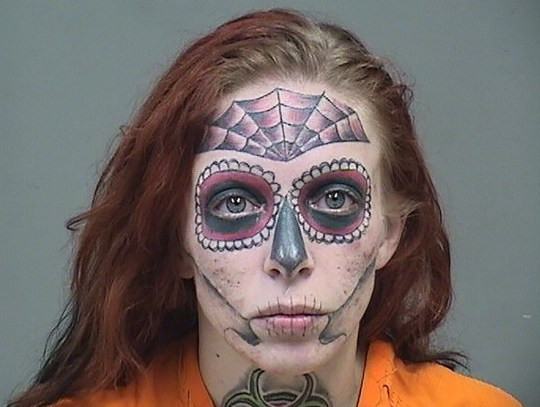An Ohio woman with shocking face tattoos has been arrested after she was allegedly caught shoplifting. Alyssa Zebrasky, 27, of Canfield, Ohio, was arrested on Wednesday December 5 and now faces charges of theft and drug abuse. She was stopped by cops for allegedly stealing a bag from a Walmart in the Boardman Township, which is also in Ohio. During a search, officers also found a hypodermic needle and small bags containing methamphetamine inside her purse. Zebrasky also had an outstanding warrant in the nearby Austintown. According to cops, Zebrasky is facing charges of schedule 1 drug possession, schedule III drug possession, drug abuse instruments, failure to appear and theft. 06 Dec 2018 Pictured: Alyssa Zebrasky. Photo credit: MEGA TheMegaAgency.com +1 888 505 6342