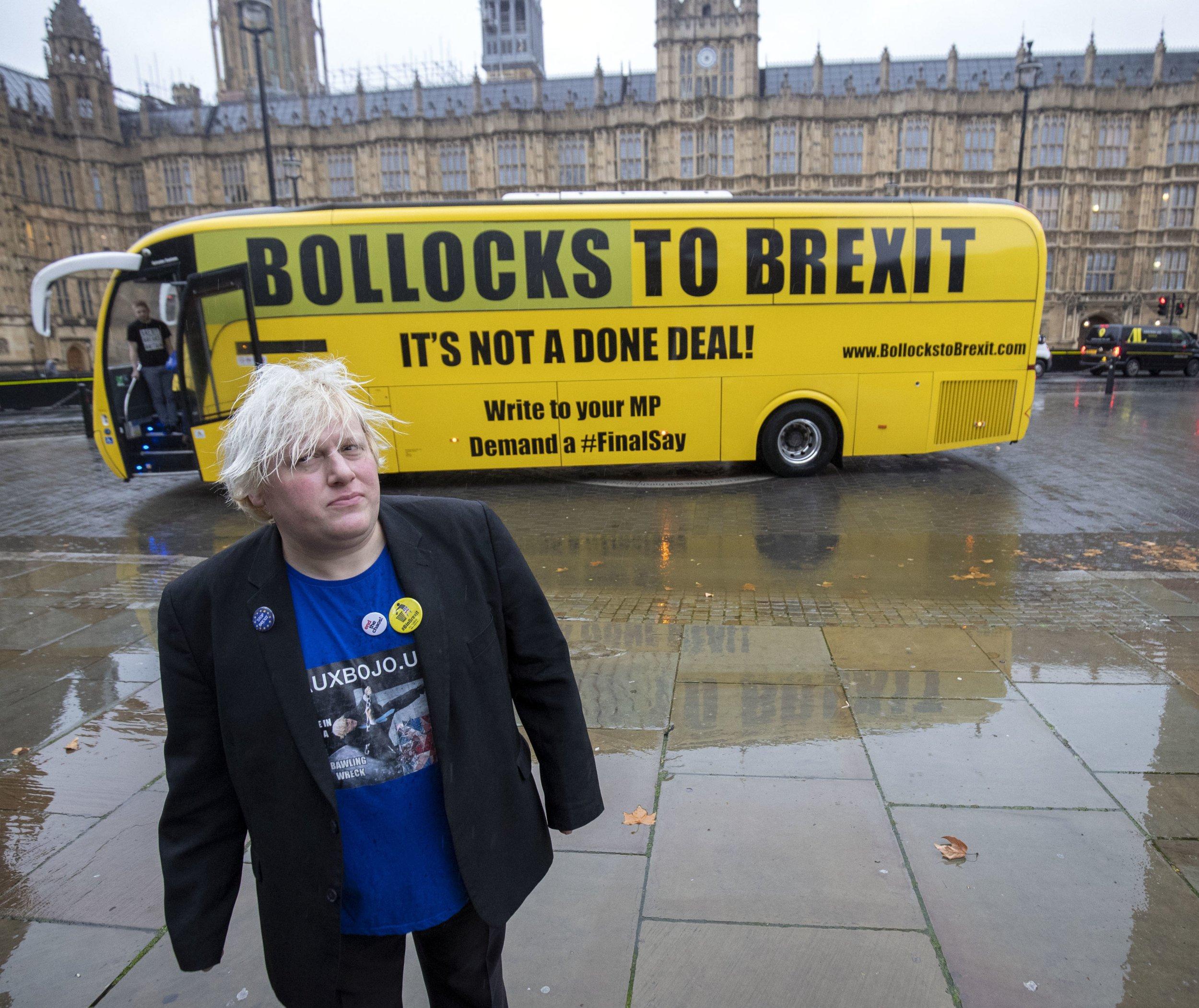 Bollocks to Brexit' bus demand...