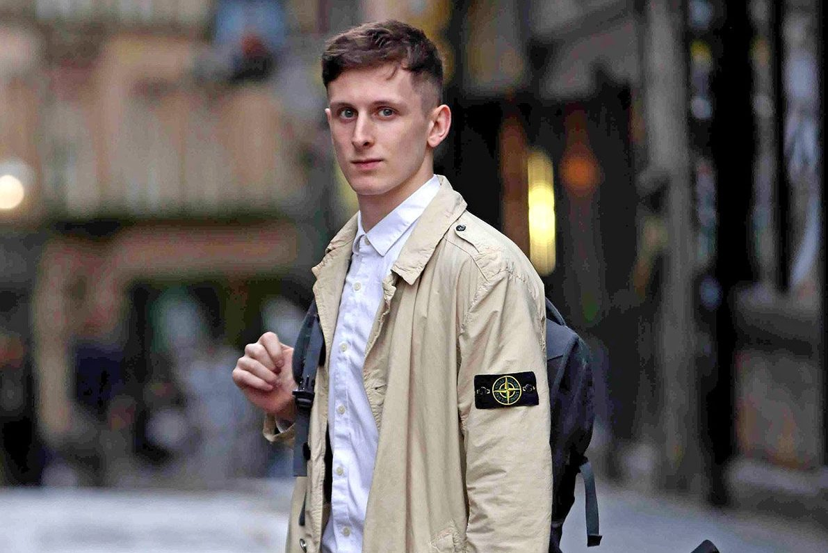 """A student refused entry into a Bigg Market bar for wearing a Stone Island coat claims he was made to feel like a """"football hooligan"""". Connor Lilley was celebrating his girlfriend's birthday when Filthy's bouncers knocked him back. Stone Island is heavily linked with hooligan fashion, but miffed Connor fumed: """"The irony is, I don't even like football."""" And he was even more stunned after leaving, only for a swanky Quayside restaurant to let him in with the jacket. Connor Lilley who was refused entry into Filthy McNasty's because he was wearing a stone island jacket"""