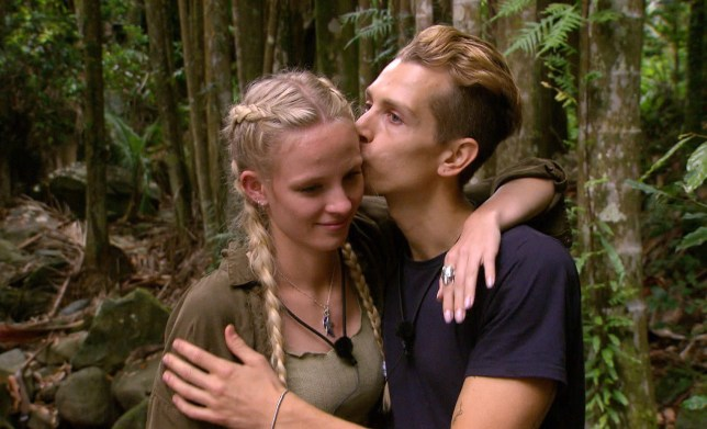 STRICT EMBARGO - NOT TO BE USED BEFORE 22:30 GMT, 07 DEC 2018 - EDITORIAL USE ONLY Mandatory Credit: Photo by REX (10018384cm) James Meets Kirstie - James McVey and Kirstie Brittain 'I'm a Celebrity... Get Me Out of Here!' TV Show, Series 18, Australia - 07 Dec 2018