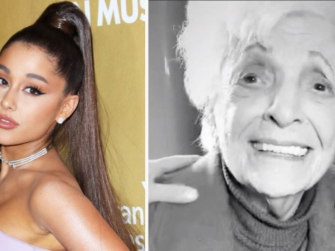 Ariana Grande gets tattooed with her 93-year-old grandmother and it's iconic