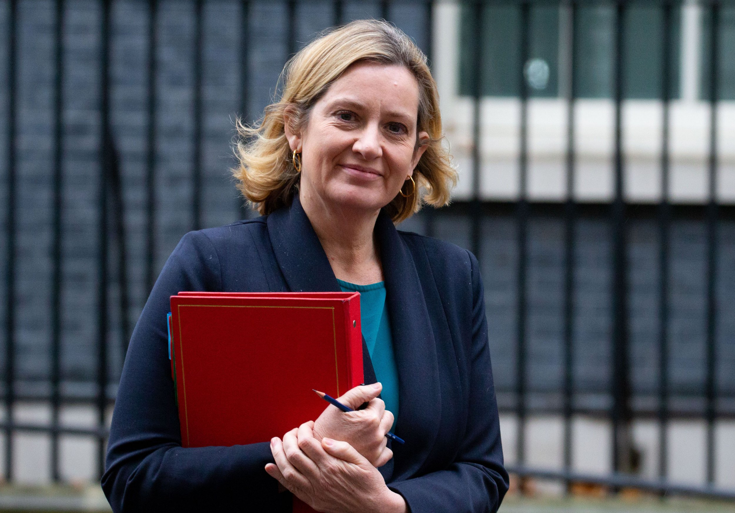 Mandatory Credit: Photo by Mark Thomas/REX/Shutterstock (9986890ba) Amber Rudd, Secretary of State for Work and Pensions, leaves the Cabinet meeting. Cabinet meeting, London, UK-20 Nov 2018 Prime Minister, Theresa May, is trying to finalise her Brexit plans. Amber Rudd was appointed back into the Cabinet following the resignation of Esther McVey.
