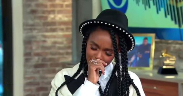 Janelle Monae cries as she finds out on TV that she's up for Grammy CBS
