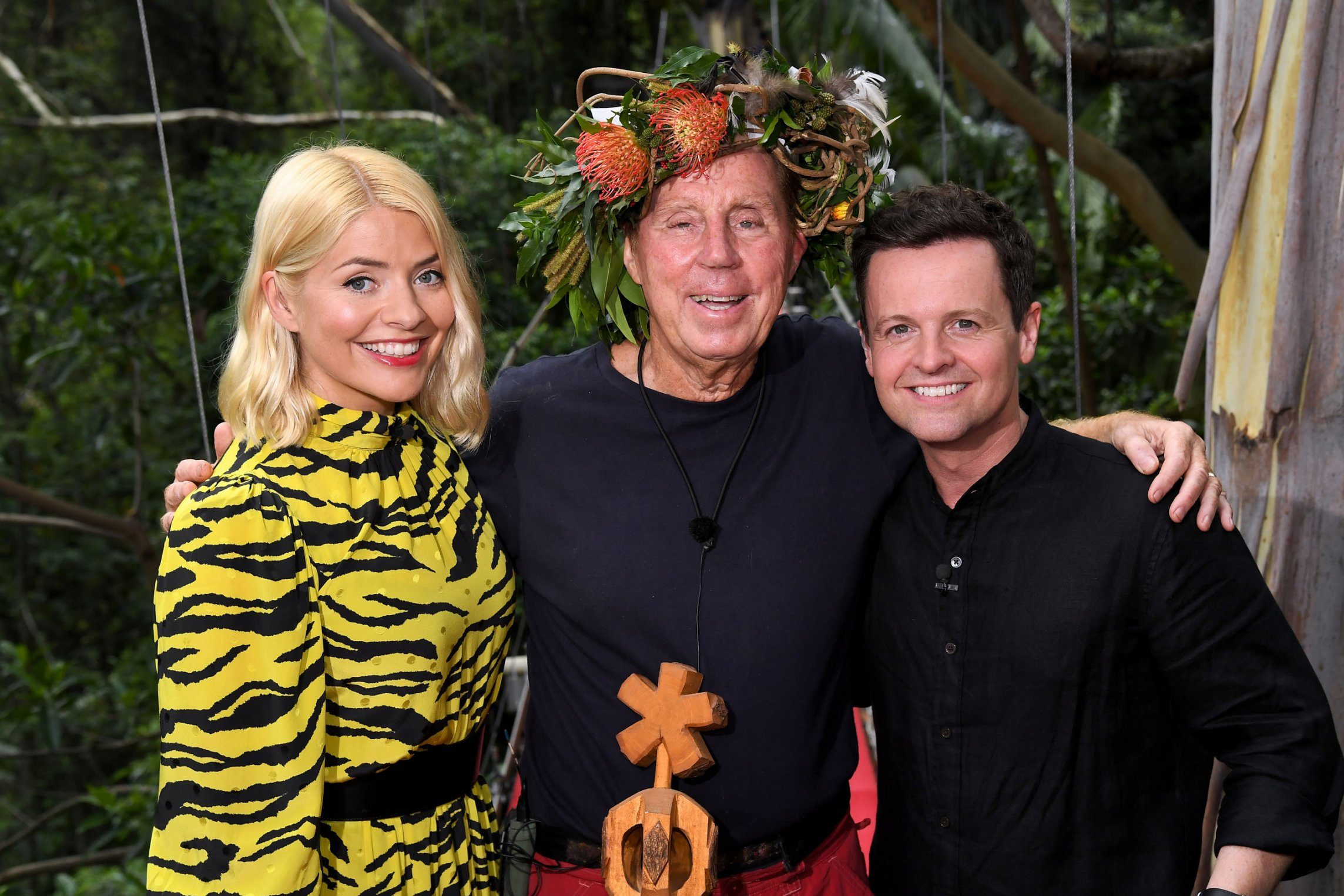 Editorial use only Mandatory Credit: Photo by James Gourley/ITV/REX (10019593t) Harry Redknapp is crowned King of the Jungle and is joined by Holly Willoughby and Declan Donnelly 'I'm a Celebrity... Get Me Out of Here!' TV Show, Series 18, Australia - 09 Dec 2018