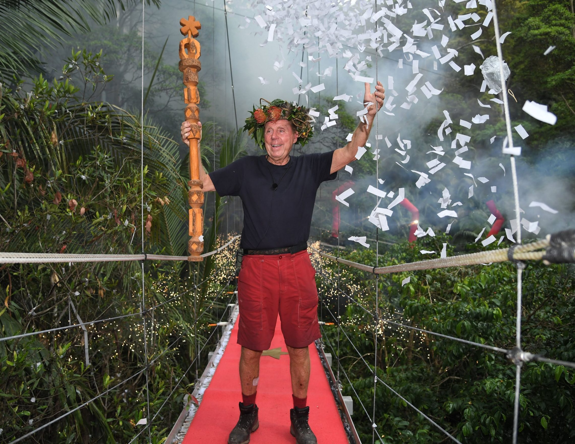 Editorial use only Mandatory Credit: Photo by James Gourley/ITV/REX (10019593ad) Harry Redknapp is crowned King of the Jungle 'I'm a Celebrity... Get Me Out of Here!' TV Show, Series 18, Australia - 09 Dec 2018