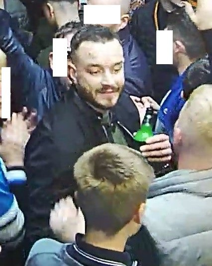 BEST QUALITY AVAILABLE Handout photo dated 22/09/18 issued by the Metropolitan Police of a man they would like to identify after Crystal Palace defender Aaron Wan-Bissaka was struck by a bottle during a Premier League game against Newcastle in September. PRESS ASSOCIATION Photo. Issue date: Monday December 10, 2018. See PA story POLICE Football. Photo credit should read: Metropolitan Police/PA Wire NOTE TO EDITORS: This handout photo may only be used in for editorial reporting purposes for the contemporaneous illustration of events, things or the people in the image or facts mentioned in the caption. Reuse of the picture may require further permission from the copyright holder.
