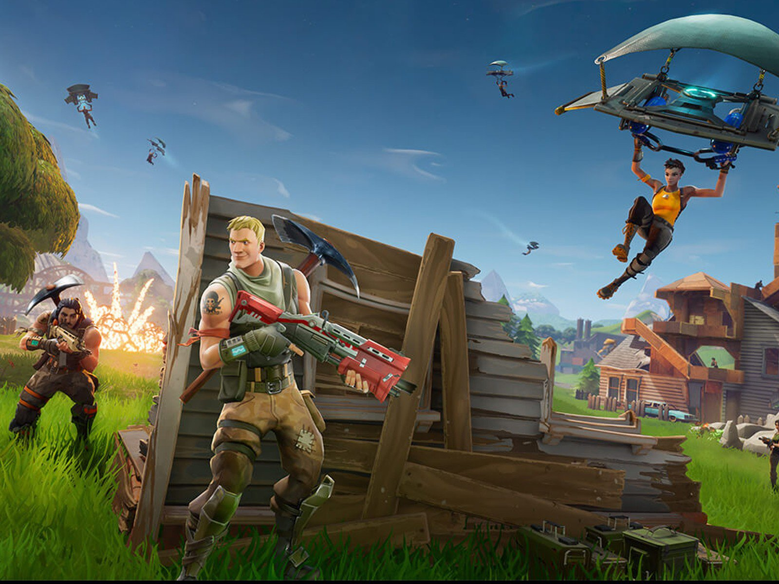 Fortnite game Image from https://www.androidcentral.com/best-battle-royale-games-playstation-4