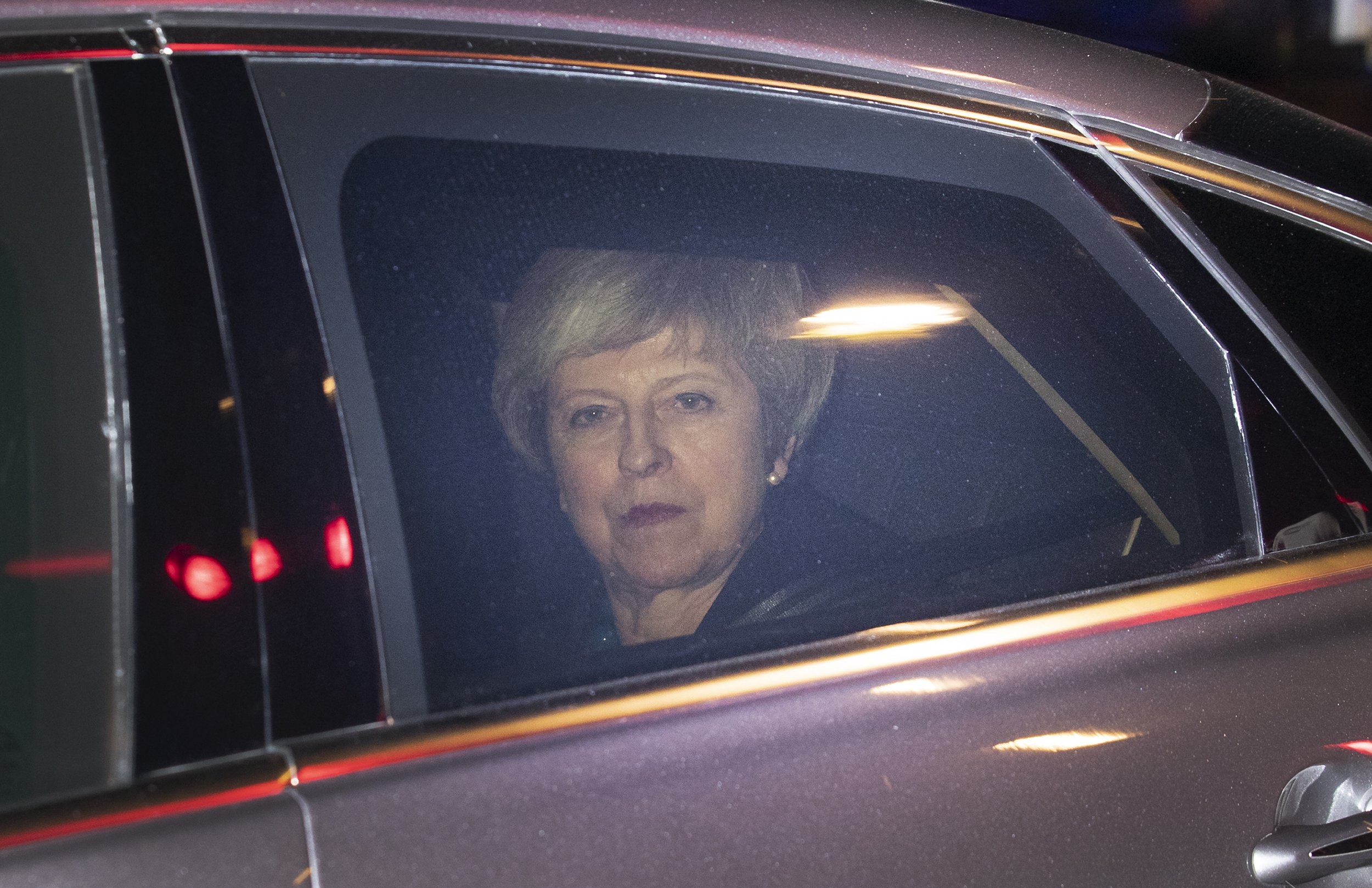 ? Licensed to London News Pictures. 10/12/2018. London, UK. Prime Minister Theresa May leaves Parliament after calling off tomorrow's withdrawal agreement vote in The House of Commons. Photo credit: Peter Macdiarmid/LNP