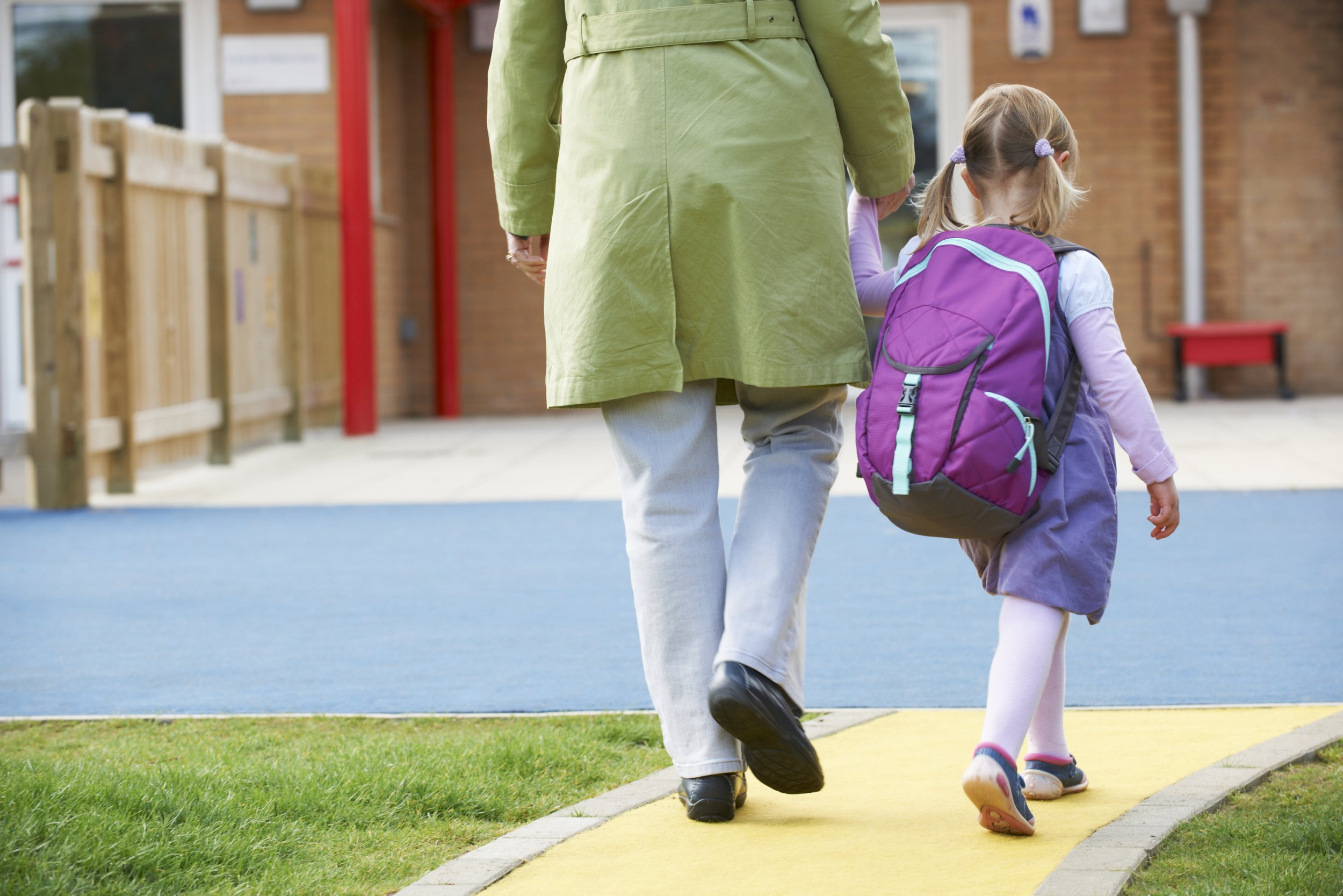 Parent Taking Child To Pre School; Shutterstock ID 341904785; Purchase Order: -
