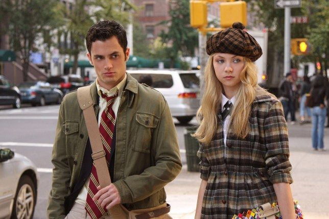 Penn Badgely and Blake Lively in Gossip Girl