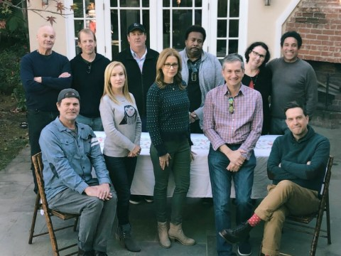 The Office US cast reunite for epic recreation of Christmas photo after SNL reboot joke