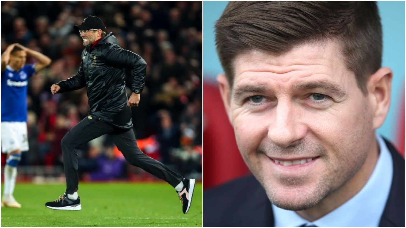 Liverpool legend Steven Gerrard reacts to controversial Jurgen Klopp derby celebrations
