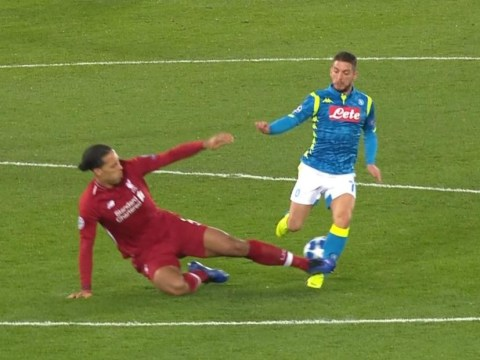 Virgil van Dijk speaks out after *that* challenge on Dries Mertens during Liverpool win