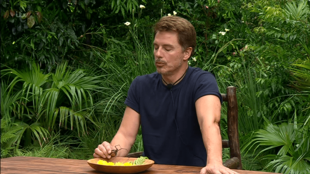 John Barrowman was faced with the eating trial (Picture: ITV)