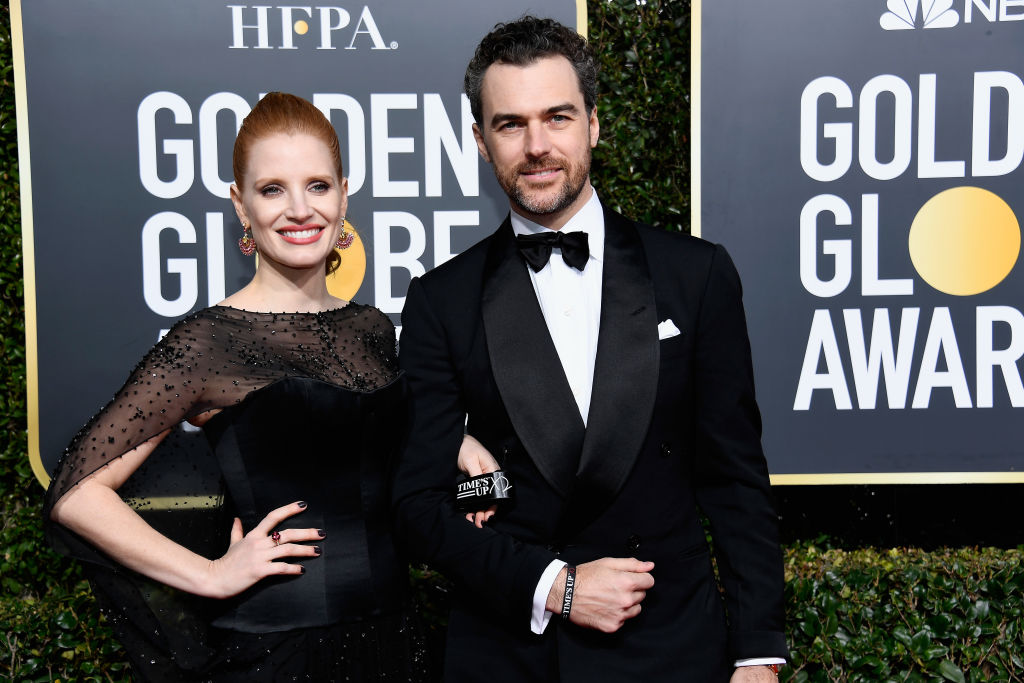 Jessica Chastain shares first photo of baby girl while she gets glammed up for Golden Globes 2019