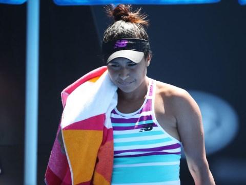 Bitterly disappointed Heather Watson breaks down in tears after Australian Open exit