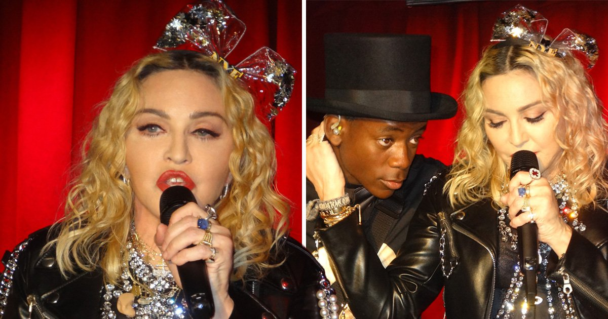 Madonna drops in on New York gay bar with son David Banda, 13, for surprise NYE performance