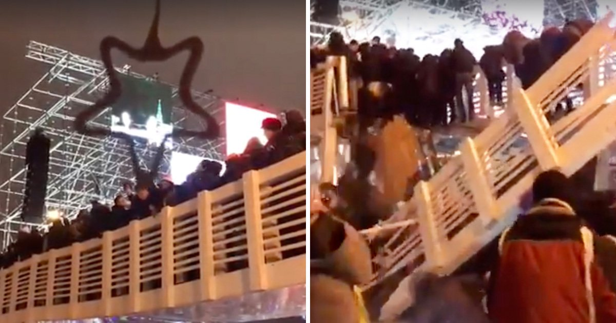 Over 13 injured after bridge collapsed during New Year celebrations in Moscow