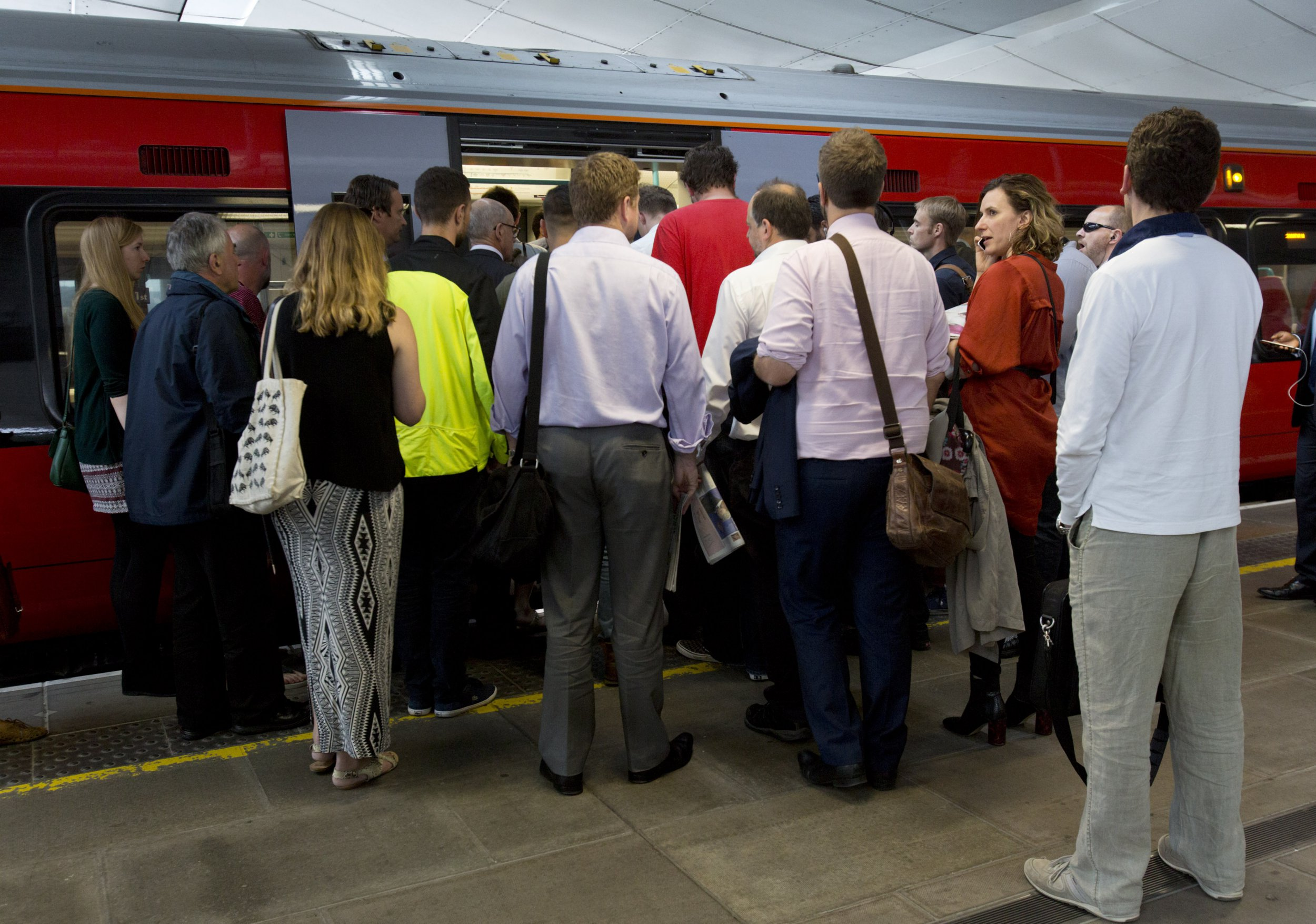 File photo dated 28/07/2016 of commuters waiting to board a train, overcrowding on trains has hit one of its highest levels and is set to get worse, Labour has claimed. PRESS ASSOCIATION Photo. Issue date: Thursday January 3, 2019. A study by the party suggested that the most overcrowded train routes are on average 187% over capacity. See PA story INDUSTRY Overcrowding. Photo credit should read: Yui Mok/PA Wire