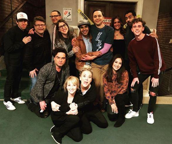 Kaley Cuoco BTS The Big Bang Theory