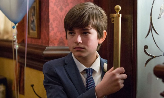 Bobby Beale entering the Queen Vic in EastEnders