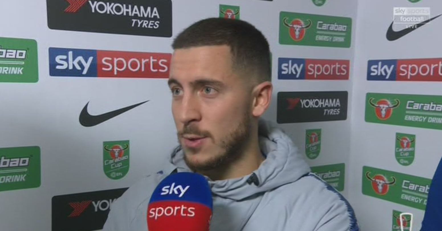 Eden Hazard hits back at Maurizio Sarri after Chelsea beat Spurs to reach Carabao Cup final