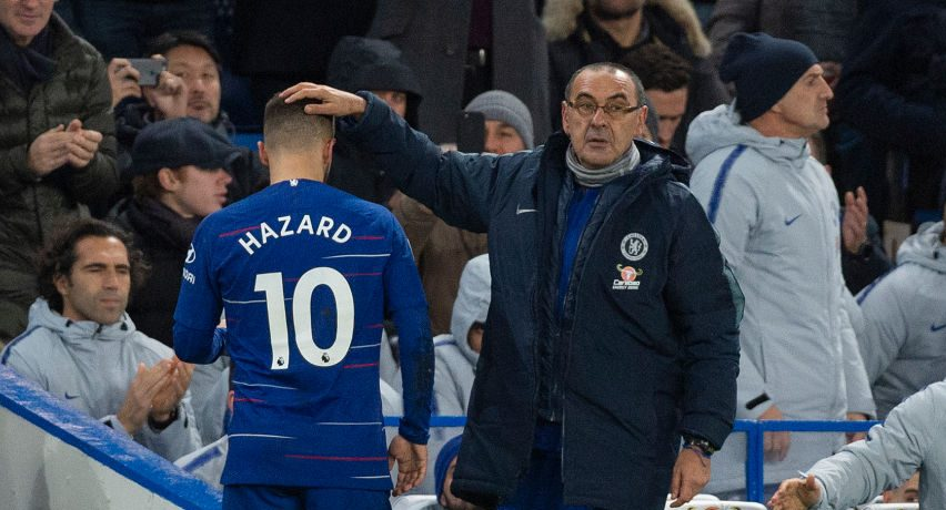 Image result for Sarri and Hazard