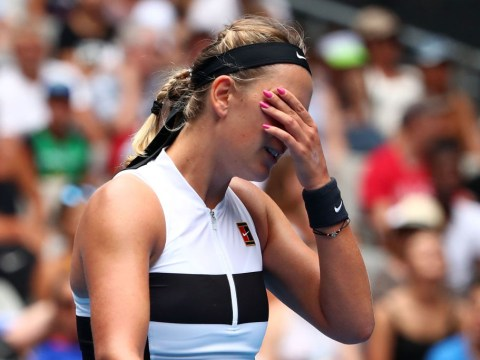 Two-time champion Victoria Azarenka breaks down in tears after Australian Open exit