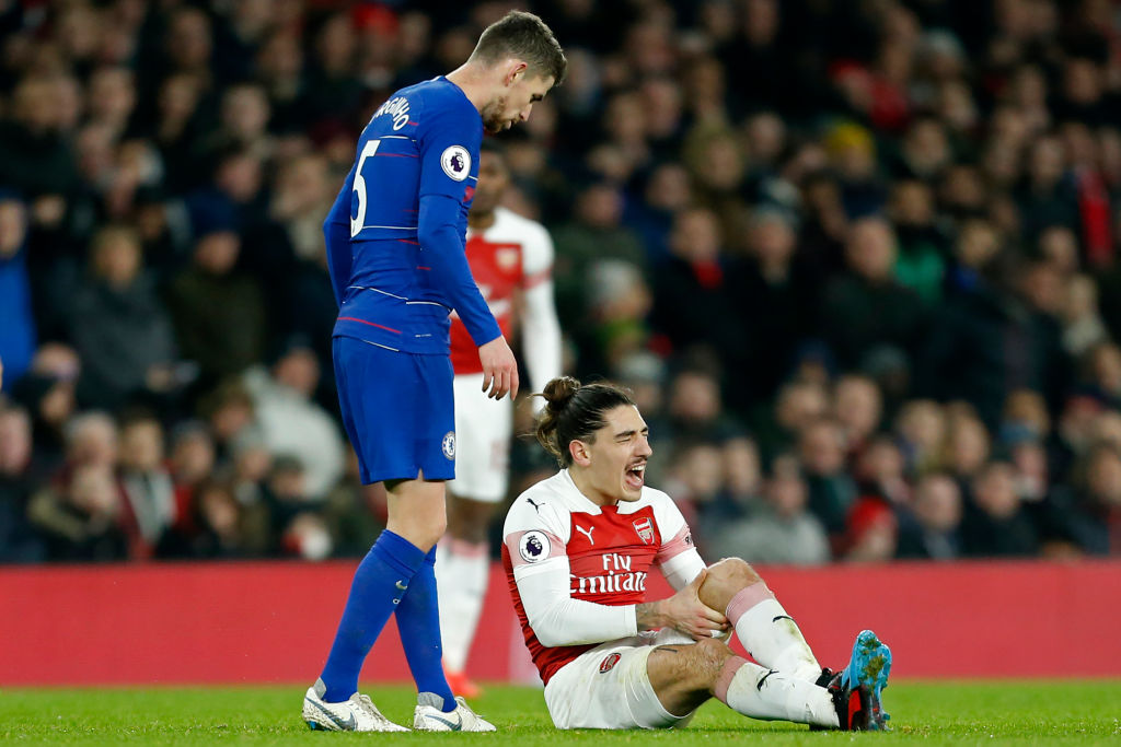 Unai Emery provides Hector Bellerin injury update after Arsenal beat Chelsea
