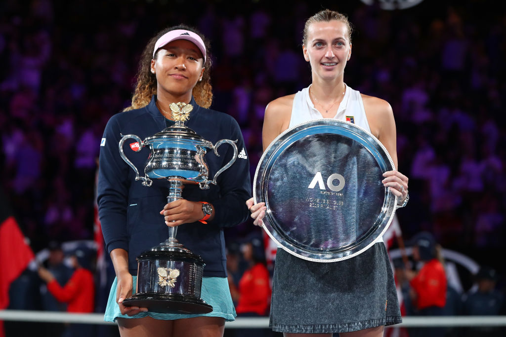 Naomi Osaka pays classy tribute to tearful Petra Kvitova after Australian Open win