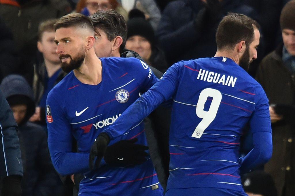 Olivier Giroud rates Gonzalo Higuain's Chelsea debut against Sheffield Wednesday