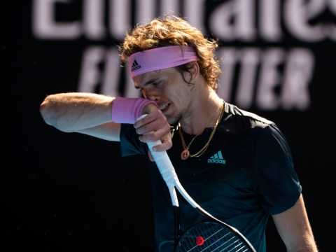 Racquet-smashing Alexander Zverev reacts to Australian Open exit