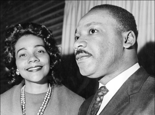 Martin Luther King with his wife Coretta Scott King
