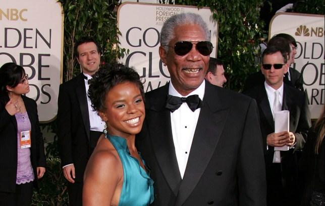 EDena Hines and Morgan Freeman